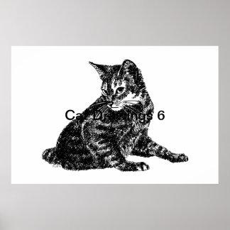 Dibujos 6 del gato impresiones