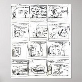 dibujos animados al azar poster