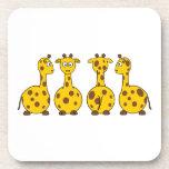 Dibujos animados de las jirafas posavasos de bebidas