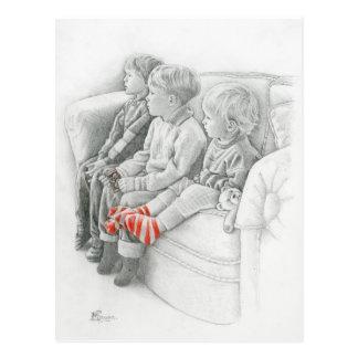 Dibujos animados de observación de la postal de la
