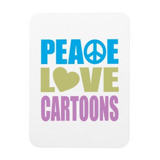 Dibujos animados del amor de la paz imán flexible