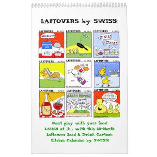 Dibujos animados divertidos de la comida de calendario