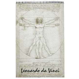 Dibujos de bosquejos de la bella arte de Leonardo Calendarios