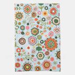 Dibujos de la flor del jardín toallas de cocina