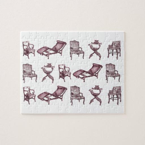 Dibujos de la silla puzzle con fotos