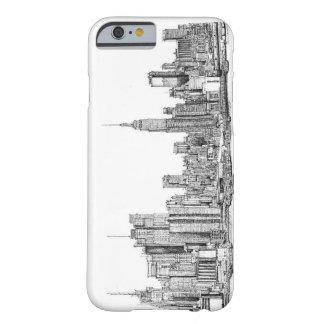 Dibujos de la tinta de Nueva York Funda De iPhone 6 Barely There