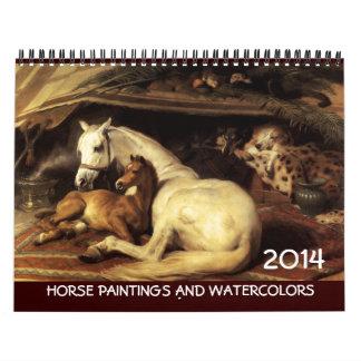 Dibujos de las pinturas de la COLECCIÓN 2014 de la Calendario