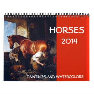 Dibujos de las pinturas de la COLECCIÓN 2014 de la Calendarios