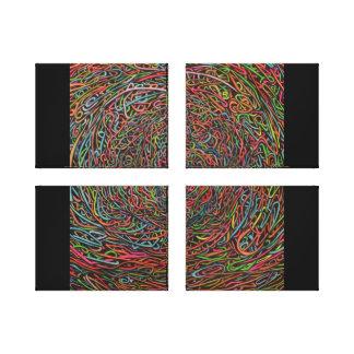 Dibujos de los espaguetis del confeti impresión en lona estirada