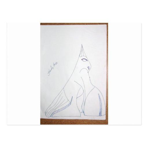 Dibujos del arte del ciervo viejos y nuevos 167 postal