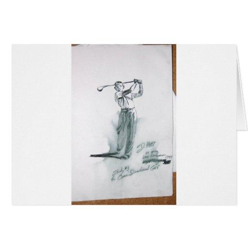 Dibujos del arte del ciervo viejos y nuevos 195 tarjeta