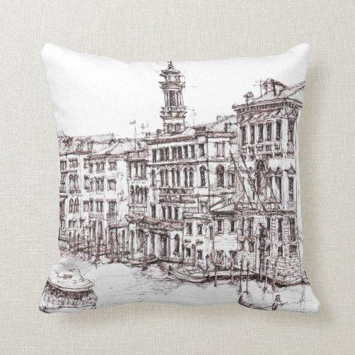 Dibujos italianos de la arquitectura cojín