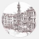 Dibujos italianos de la arquitectura pegatinas redondas