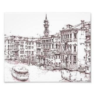 Dibujos italianos de la arquitectura fotografía