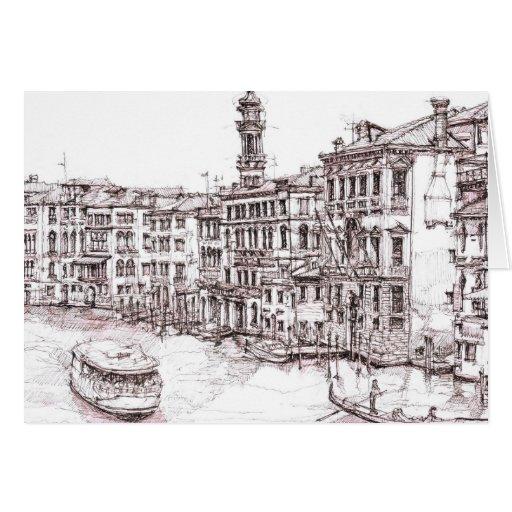 Dibujos italianos de la arquitectura tarjeta pequeña