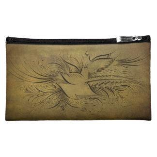 Dibujos lineales de los pájaros del oro del