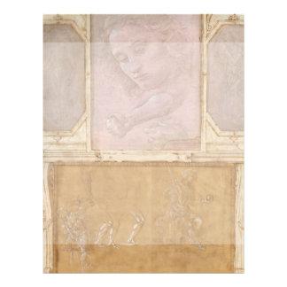 """Dibujos por Botticelli, Lippi, Vasari Folleto 8.5"""" X 11"""""""