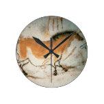 Dibujos prehistóricos franceses de Lascaux de los  Reloj Redondo Mediano