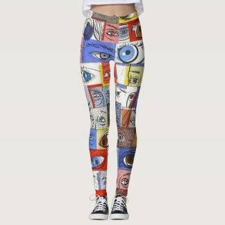 Dibujos salvajes de la diversión y únicos locos de leggings