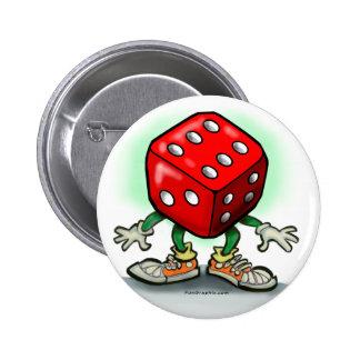 Dice 2 Inch Round Button