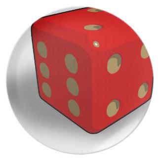 dice-411 melamine plate