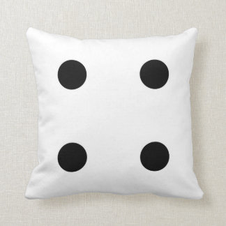 dice 4 and dice 3 pillow