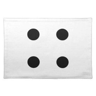 Dice 4 cloth placemat