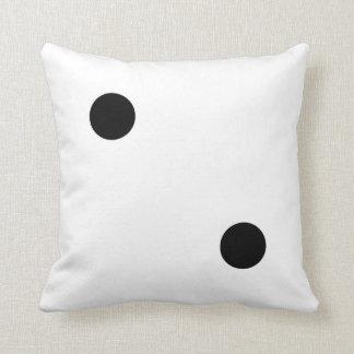 dice 5 and dice 2 throw pillows