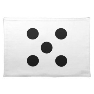 Dice 5 cloth placemat