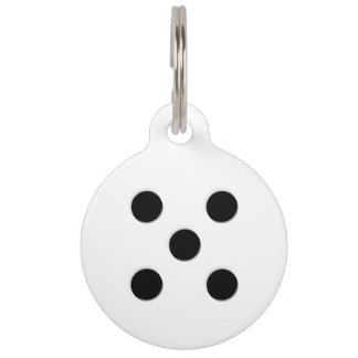Dice 5 Pips Pet ID Tag