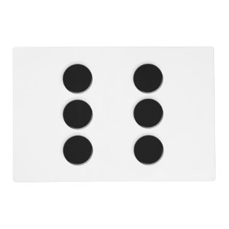 Dice 6 Pips Placemat