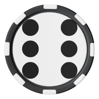 Dice 6 Poker Chip Set at Zazzle