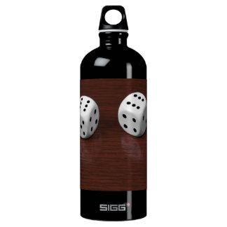 dice aluminum water bottle