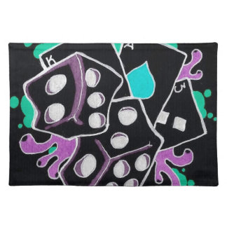 Dice and Cards Cloth Placemat