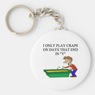 dice and  craps players basic round button keychain