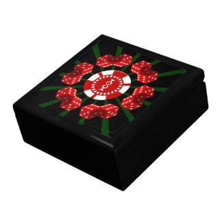 Dice and Poker Chip Keepsake Jewelry Box