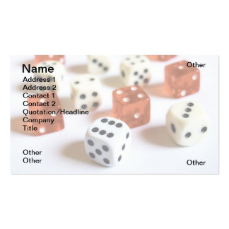 Dice Business Card Templates