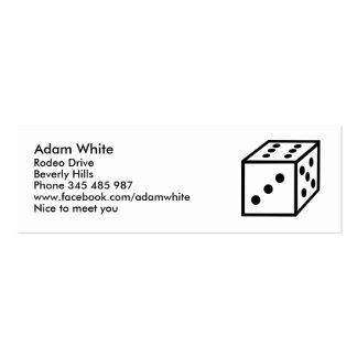 Dice Business Card Template