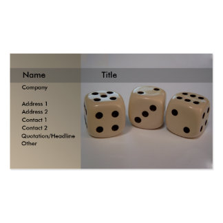 Dice Double-Sided Standard Business Cards (Pack Of 100)
