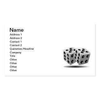 Dice Business Card Templates
