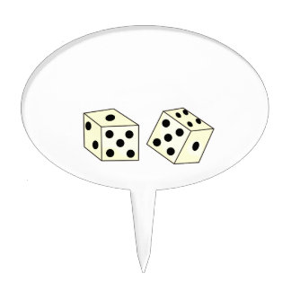 DICE CAKE TOPPERS