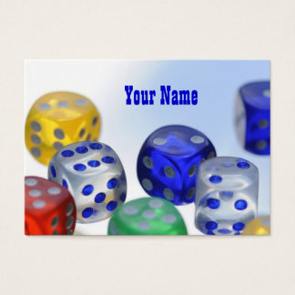 Dice ... gamble on! business card