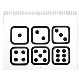 Dice gambling wall calendar
