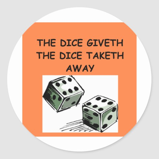 dice joke sticker