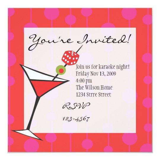 Dice Martini Card