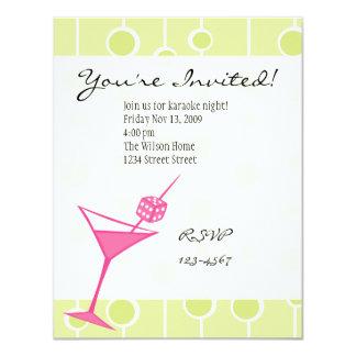 Dice Martini 4.25x5.5 Paper Invitation Card