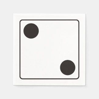 DICE numbers of pips 2 + your backgr. Napkin