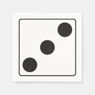 DICE numbers of pips 3 + your backgr. Napkin