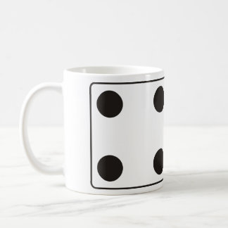 DICE numbers of pips 4 & 3 + your ideas Classic White Coffee Mug