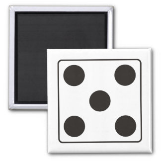 DICE numbers of pips 5 + your backgr. Magnet